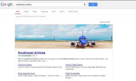 Google hpage banner ad